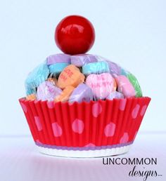 Valentine cupcake - no bake and the kids can help!