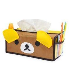 BDS - Cute Cartoon (Bear) Tissue Box Cover Organizer Holder