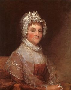 Abigail Adams, American First Lady married to President John Adams. She was ahead of her time believing in equality for women and Black Americans. Many referred to Mrs. Adams as Mrs. President because they felt she had too much influence on the Presidency. Her husband referred to her council when making decisions. She was the first President's wife to live in the White House then called the President's mansion when the capital moved from Philadelphia to Washington D.C.