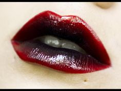 Red and black ombré #lips #lipstick #makeup