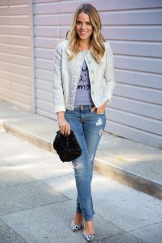 Mix & Match #fashion #denim #distressed