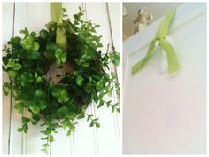 TIP:Hide a hook upside-down on the back of a door to hang a wreath without detracting from its style.