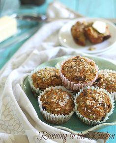 "Carrot raisin ""everything"" muffins. #paleo #grainfree #glutenfree"