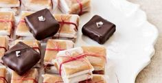 Chocolate-Dipped Vanilla Caramels | KitchenDaily.com