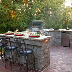Patio Design Ideas, Pictures, Remodel and Decor ---- like size and bar stool area.. but not perfect
