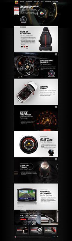 Cool Automotive Web Design on the Internet. Fiat. #automotive #webdesign #webdevelopment #website