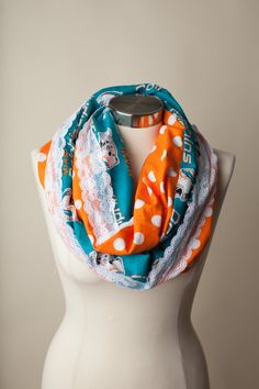 Miami Dolphins NFL Infinity Scarf on Etsy, $26.00