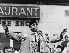 Bayard Rustin at a Civil Rights rally.