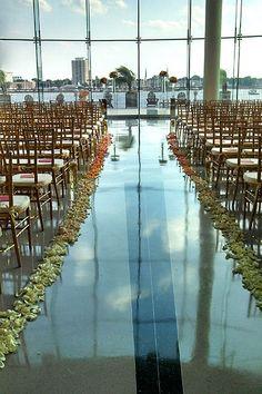 Ombré ceremony aisle