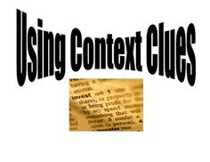Free poster models a 5 step process for using context clues to understand new words.