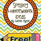 This is a list of ideas on ways to practice spelling words. I include this list in my weekly homework packet. Parents and students choose at least ...
