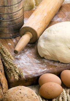 fresh bread & eggs