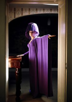 Barbra Streisand channeling a floor lamp.