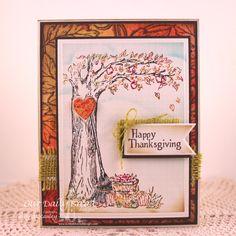 Stamps - Our Daily Bread Designs Autumn Tree, Leaves Background, ODBD Custom Pennants Dies, ODBD Custom Ornate Heart Dies