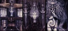 More of one of my FAVE artists in the world.....H.R. Giger! Surreal! Thought provoking!