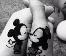 Minnie and Mickey tattoo