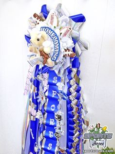 Sports Roses make an unique and memorable addition to any homecoming mum or garter.  Your mums will be the talk of the school for homecoming when they feature these everlasting blooms made from baseball, football and softball leather.  Order online at:  http://sportro.se/mums-garters