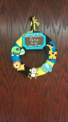 Baby Boy or Girl Wreath, Nursery Decor, New Baby Boy, Baby Shower Wreath, Newborn Decoration $35.00