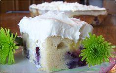 Lemon-Blueberry Cake with Lemon Mascarpone Frosting - Even tastier than you could imagine!!