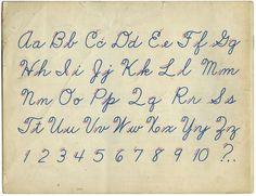 remember this, art, old school, children, learn cursiv, alphabet, cursiv write, kid, handwriting practice