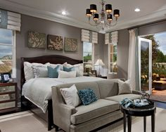 wall colors, color schemes, gray bedroom, bedroom colors, master suite, room decorating ideas, master bedrooms, sitting areas, bedroom designs