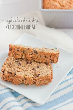 Maple chocolate chip zucchini bread for breakfast? Don't mind if we do. :)