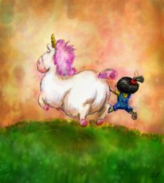 A Girl and Her Unicorn by ~LuezA-35 on deviantART