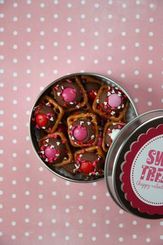 holiday, school, valentine day, pretzel bites, tin cans