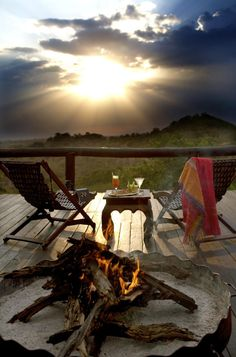 Serengeti lodge in Tanzania. Now that's a view we could get used to.
