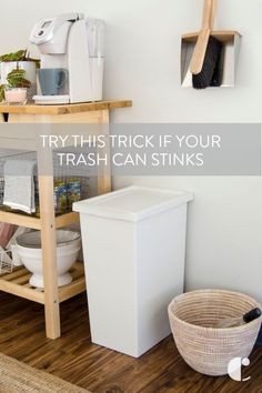 Trash can odors are inevitable. Here's a trick for eliminating the stank with a $6 product. Plus, tips and tricks for how to handle garbage can smells.    #tips, #tricks, #Life hack, #hack, #trash, #trashcan, #deodorizer, #deodorizer, #scent