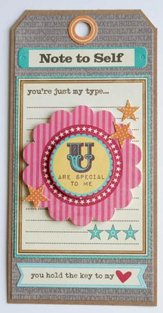 U Are Special To Me Card by Carole Maurin using Jillibean Soup's Sweet & Sour Soup papers, pea pod parts, and soup labels (via Jillibean Soup blog).