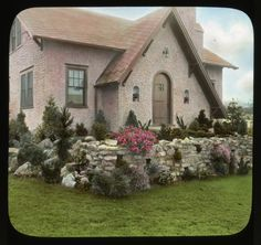 The Gruppengeiser Garden is an example of a  pleasant little cottage garden, seen here in a photograph from 1929.  No goblins or ghouls in sight! Smithsonian Institution, Archives of American Gardens, J. Horace McFarland Collection. #ArchivesMonth2013
