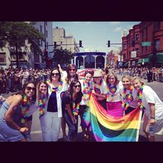 #Cubs associates and the Cubs Trolley participated in Chicago Pride Parade June 24.