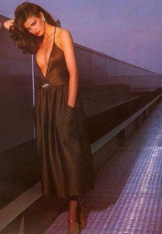 Harper's Bazaar Italy, circa 1978  Photographer: Chris von Wangenheim  Model: Gia Carangi