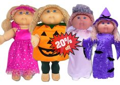 Spooktacular Halloween special on all my 18 1/2 inch Cabbage Patch Halloween Doll Clothes Patterns.