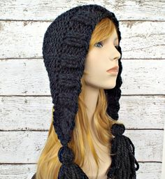 Tassel Hat in Charcoal Grey - READY TO SHIP