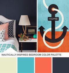 Nautical Bedroom Color Palette (http://blog.hgtv.com/design/2013/06/25/nautical-bedrooom-color-palette/?soc=pinterest)