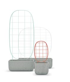 Plantrellis by Luca Nichetto for Berga, $600-$1,700 Using chicken wire to support growing vines is a thing of the past thanks to these sleek wire trellises set inside concrete planters. berga-form.se
