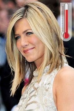 Forecast: Hot Are you obsessed with short hair—but not ready to part with your tresses? Lighten up (literally). You can still make the cut with a long asymmetrical bob like Jennifer Aniston's Short Hair, Hair Colors, Jennifer Aniston, Summer Hair, Hair Bobs, Long Hair, Blond, Hairstyl, Long Bobs