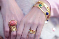 ysl arty enamel ring and ysl bracelets