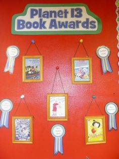 Love Beth Newingham!  Monthly (or maybe by semester?) book awards - categories created by the class