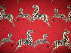 Scalamandre zebra wallpaper has been a huge hit- we get lots of requests for this one… it was also featured in The Royal Tenenbaums