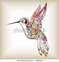stock vector : Hummingbird.....tattoo I want