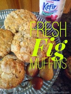 These moist fig muffins with Lifeway Kefir and fresh figs are delicious.  #KefirCreations  #CBias #shop