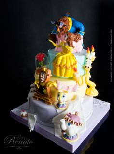 cakes, food, beast cake, beauti, beauty, amaz cake, disney cake, the beast, birthday cake