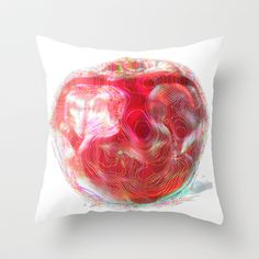 Apple #2 Throw Pillow by Jessica Slater Design & Illustration - $20.00