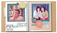 The Chalk It Up paper packet makes these memories WAY too cool for school. ;)