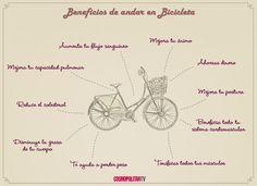 ¡Beneficios de andar en bici!