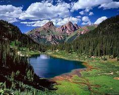 Durango, Colorado nestled deep in the San Juans.