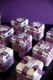I could make beautiful boxes & the guest could fill them with M